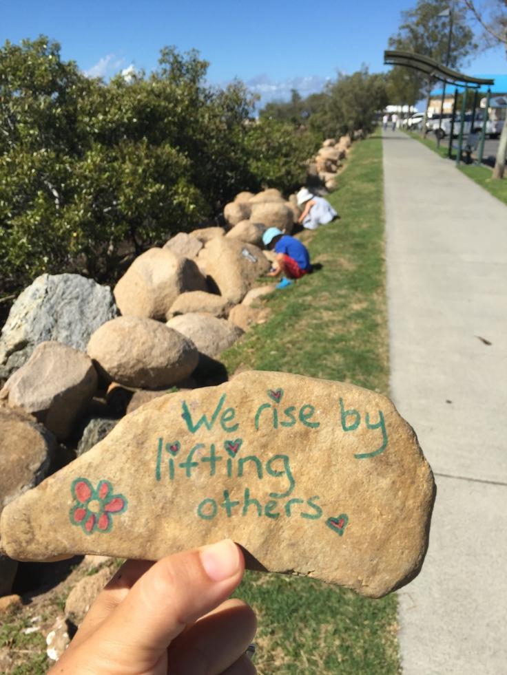 dropping kindness rocks