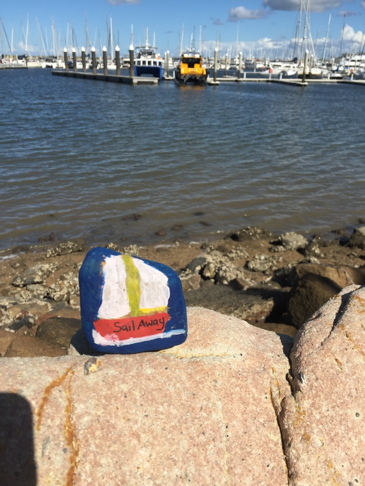 kindness rock sail away