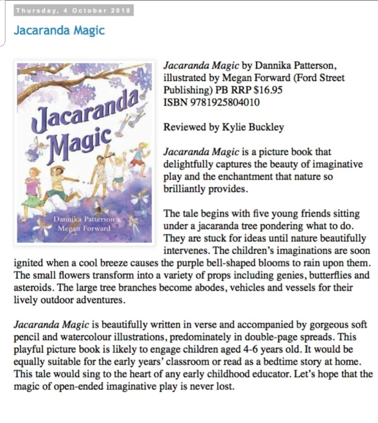 Buzz Words Review Jacaranda Magic by Dannika Haling and Megan Forward